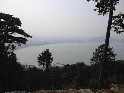 長命寺からの琵琶湖の眺め