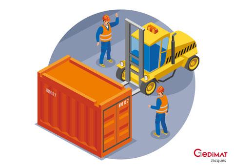 Location containers mini pelle - Gedimat Couvin