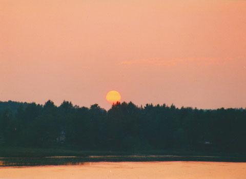 Mittsommer Finnland See