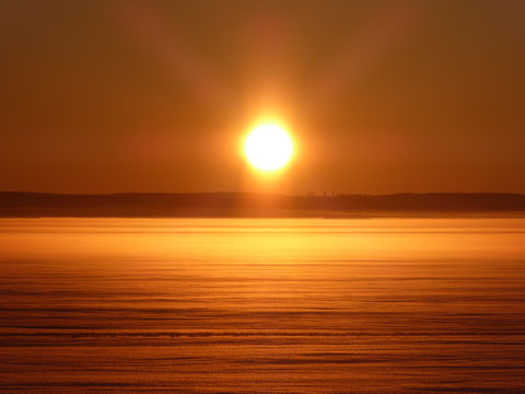 Sonnenuntergang Winter See