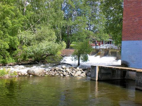 Angeln. Fliegenfischen Finnland Fluss Virtaa