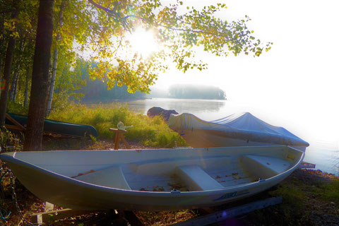 3 eigene Boote 50 m vor dem Haus direkt am Ufer