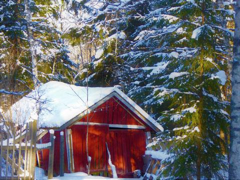 Auch im Winter finden Sie idyllische Scenen und Plätze bei Ihrer Wanderung.