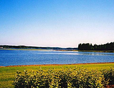 Blick in die Bucht von Sysmä
