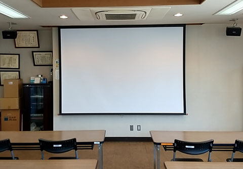 会議室用スクリーンの画像