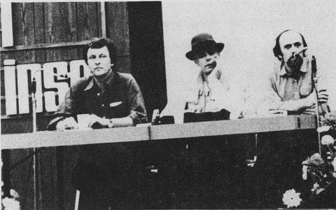 Auf dem Bild IGADiM, Joseph Beuys, Klaus Stawitzki (Marl insel 1980)