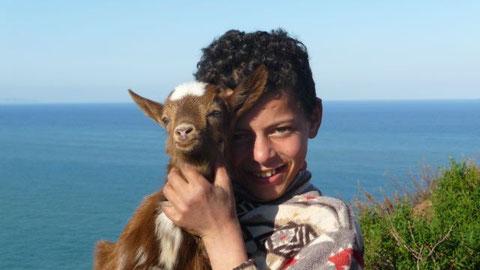 Un gardien de chèvres