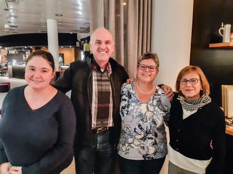 v.l.n.r.: Melanie Breinig (Schatzmeisterin),Gereon Kohl (Präsident), Anemone Heles (Vizepräsidentin), Elisabeth Tressel (Schriftführerin). Foto: Christian Millen