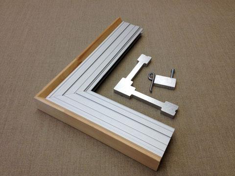 Aluminiumrahmen, Profil 40mm, Winkel und Feder