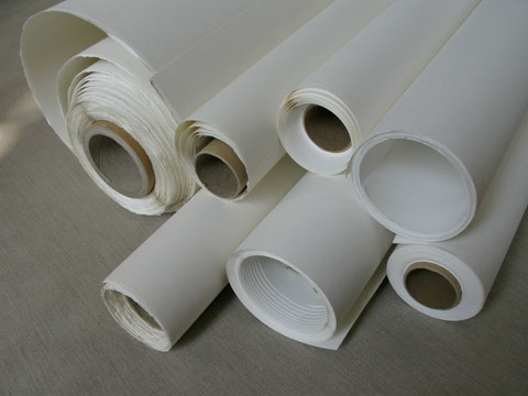 A variety of paper in rolls