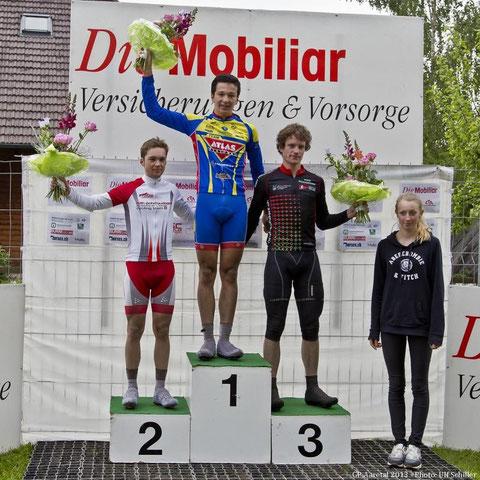 Kategorie Amateure: (v.l.n.r.) Manuel Rudaz (2.), Lukas Spenger (1.) und Florian Egger (3.).