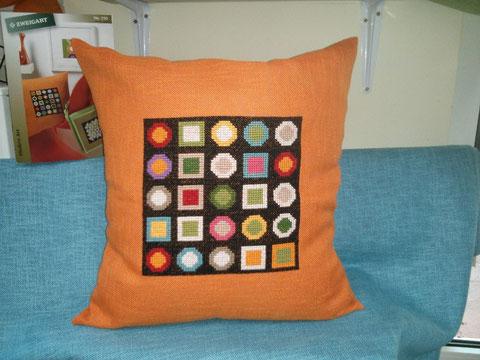 Gestickt auf Ariosa orange Fb. 5091