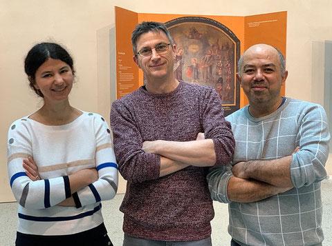 Unser aktuelles Ausschussgremium (v.l.n.r.): Gaëlle Shrot (Leitung-Stellvertreterin), Martin Stock (Leitung), Fatih Özçelik (Finanzen).