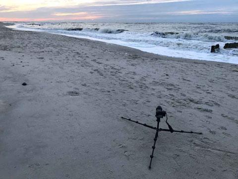 Die Verwendung eines Stativs mit Kugelkopf unterstützt die sorgsame Kameraausrichtung
