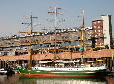 Der Liegeplatz der Alexander von Humboldt im Europahafen, 2. Mai 2016