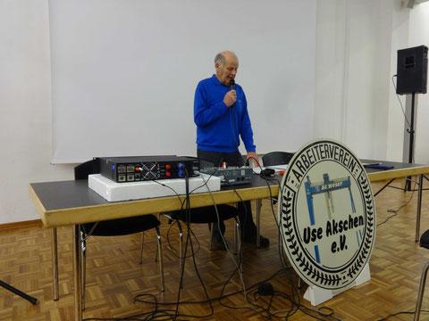 Herbert Kienke, 1. Vorsitzender, eröffnet die Jahreshauptversammlung