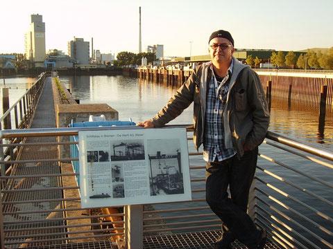 """Der ehemalige Werfthafen der AG """"Weser"""""""