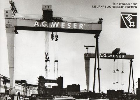 """Postkarte AG """"Weser"""""""