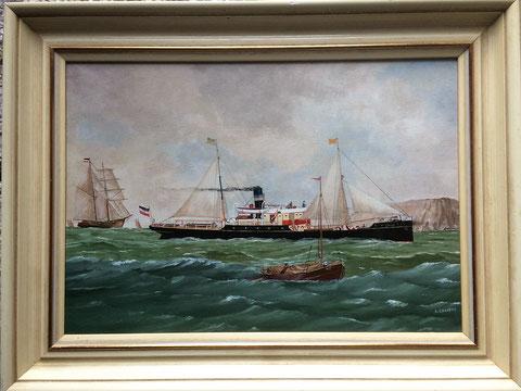 Der Frachtdampfer Luna war unter der Führung von Kapitän Ludwig Prahm im Rhein-Seedienst im Einsatz