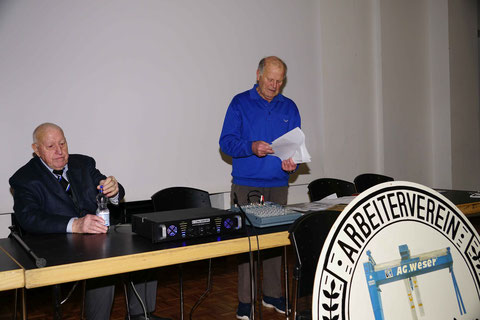 2. Vorsitzender Heinz Rolappe und 1. Vorsitzender Herbert Kienke
