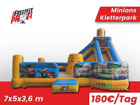 Minions Kletterpark mieten - Eventmodule & Hüpfburgen von Dein Freizeitprofi in Werra Meißner Kreis.