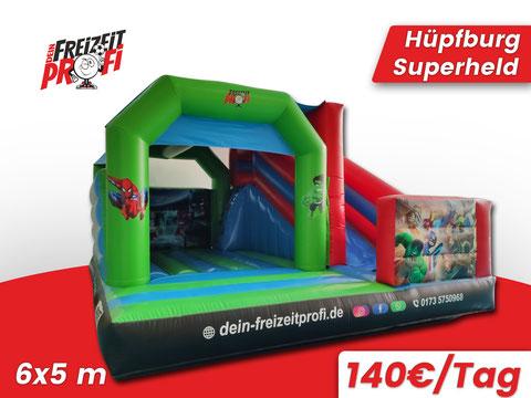 Hüpfburg Superheld mieten - Eventmodule & Hüpfburgen von Dein Freizeitprofi in Wanfried.