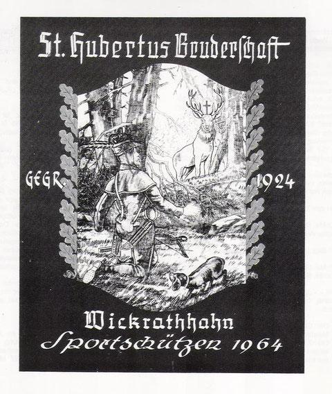 Die Fahne der St. Huberts Bruderschaft Wickrathhahn