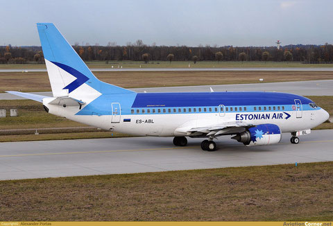 Eine Boeing 737-500 der Estonian Air/Courtesy: Alexander Portas