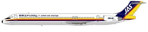 MD-81 der Japan Air System/Courtesy: MD-80.net