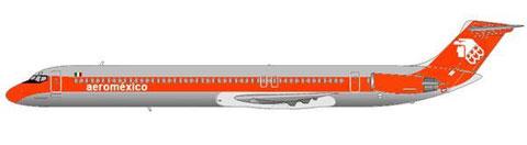 aeromexico MD-82 (Farbschema der 1970er und 1980er Jahre)/Courtesy and Copyright: md80design