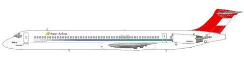 """Kurzfristig mit """"Eritrean Airlines""""-Titeln versehen und für diese eingesetzt/Courtesy: md80design"""