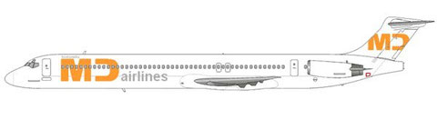 MD-83 von MD Airlines im Auftrag von BerlinJet/Courtesy and Copyright: md80design