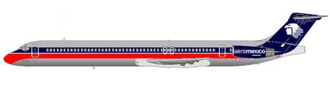 MD-88 in der Bemalung Ende der 1980er Jahre/Courtesy: MD-80.net