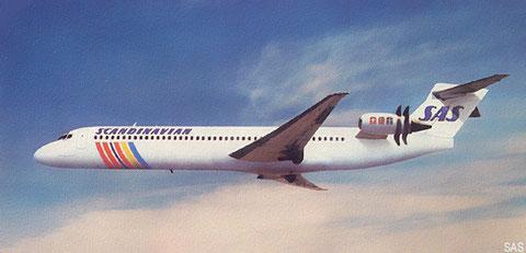 """Hier sieht man ein Propfan-Konzept, daß ebenfalls unter der Bezeichnung """"MD-91"""" lief. Gezeigt wird eine Modellzeichnung in den Farben der SAS. Courtesy: McDonnell Douglas"""