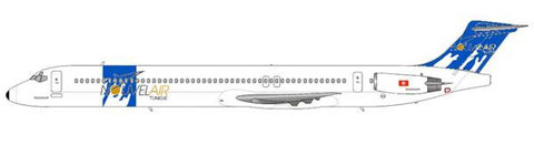 Nouvelair MD-83 im früheren Farbkleid/Courtesy and Copyright: md80design