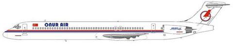 Onur Air nahmen die letzten fabrikneuen MD-88 ab/Courtesy: MD-80.net