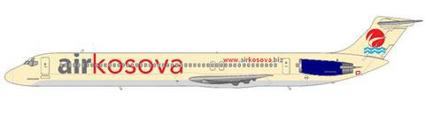 """Im Einsatz für """"Air Kosova""""/Courtesy: md80design"""