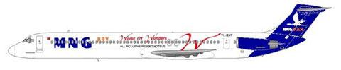 MNG pax MD-82 mit Zusatzwerbestickern/Courtesy and Copyright: md80design