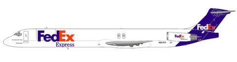So würde fiktiv ein MD-80-Frachter in FedEx-Bemalung aussehen ;-) /Courtesy: md80design