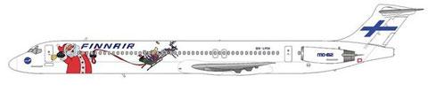 Mindestens eine MD-82 (OH-LMN) flog einst zeitweise in dieser weihnachtlichen Sonderbemalung/Courtesy and Copyright: md80design