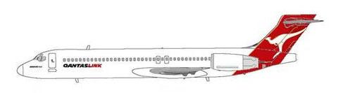 Mit Qantas-Logo unterwegs/Courtesy: MD-80.net