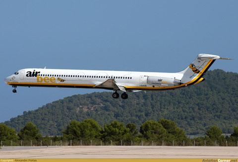 Eine MD-82 kurz vor einer Landung in Ibiza/Courtesy: Alexander Portas