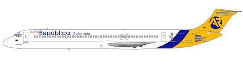 AeroRepublica Colombia MD-81/Courtesy and Copyright: md80design