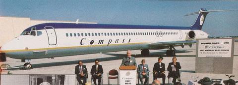 Compass -erster australischer MD-80-Betreiber/Courtesy: McDonnell Douglas/Collection: John Evanich