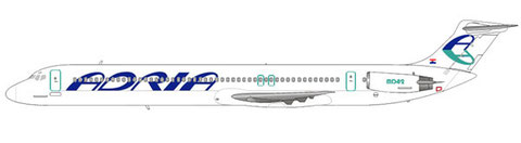 MD-82 im attraktiv frischen Farbschema der Adria Airways/Courtesy and Copyright: md80design