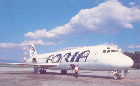 Adria Airways DC-9-30/Courtesy: Adria Airways
