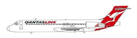 Im modifizierten Farbkleid der Qantas/Courtesy: MD-80.net