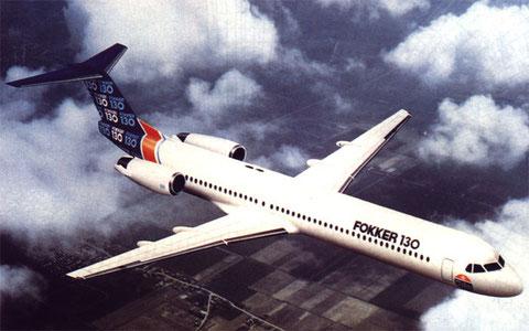 Mit der Fokker 130 wollte Fokker in den Bereich der 120-140-Sitzer eindringen/Courtesy: Fokker