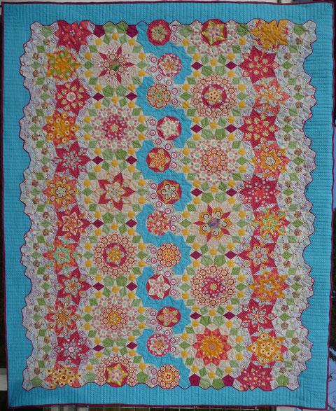 Mein dritter handgelieselter Quilt ist auch in Nantes: La Passacaglia - Der Musterfall - Ein Penrowsquilt