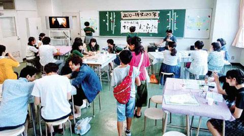 お品書き等の揮毫:森岡静江さん(1976年卒)